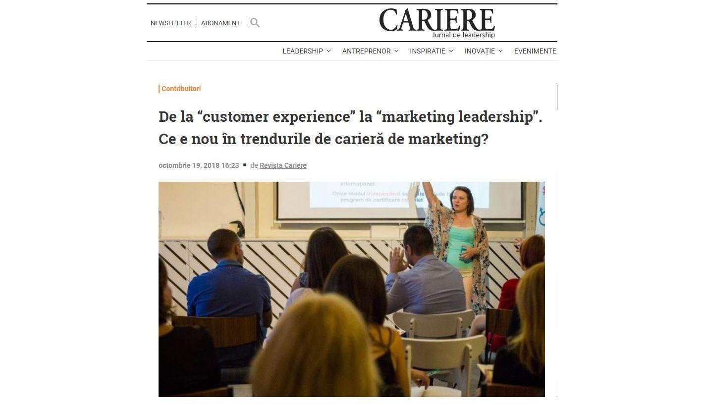 CARIERE- LEADERSHIP - andreea coca